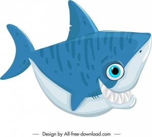 shark creature icon funny cartoon character sketch
