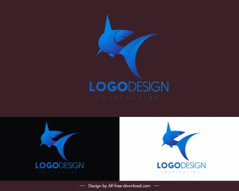 shark logo template motion 3d sketch