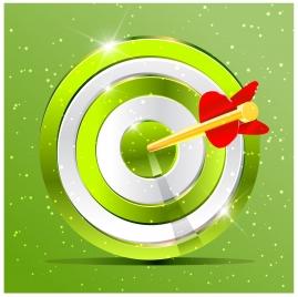 shiny aiming shield and arrow vector illustration