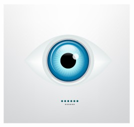 Shiny blue vector eye
