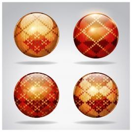 shiny decorative globes vector illustration