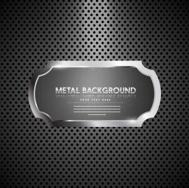 shiny metal background rounded frame holes decoration