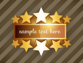 shiny promotion banner with stars on striped background