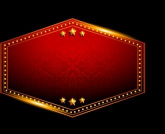 shiny red signboard elegant sparkling golden ornament