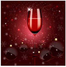 shiny wine glass on sparkle bokeh background