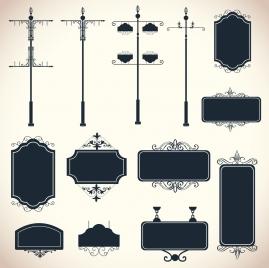 signboards design elements classical symmetric design