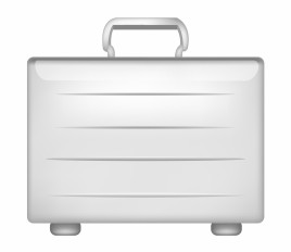 Silver metal briefcase