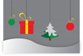 simple christmas decor element