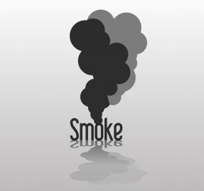 smoking background black smoke text 3d reflection design