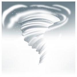 snow vortex vector illustration on white background