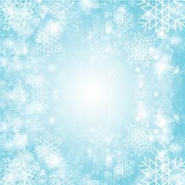Snowflake burst background