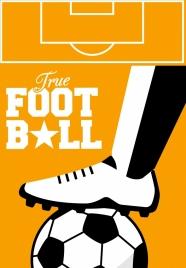 soccer background leg ball icon texts decor
