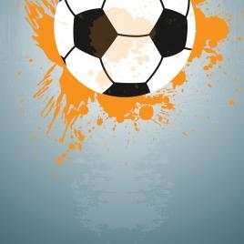 soccer ball background grunge style design