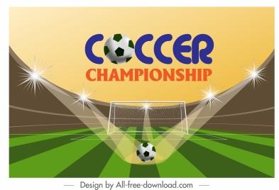 soccer banner stadium ball goal sketch modern sparkling