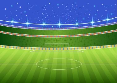 soccer stadium sketch 3d colorful design