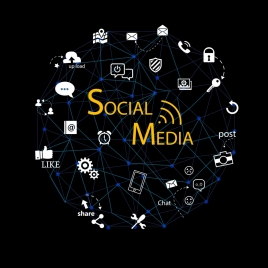 social media design elements ui connection style