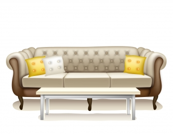 sofa and table in livingroom