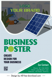 solar energy advertising poster template colorful classic
