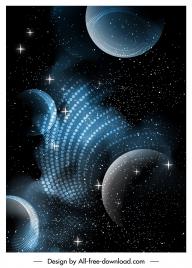 space background dark twinkling modern design