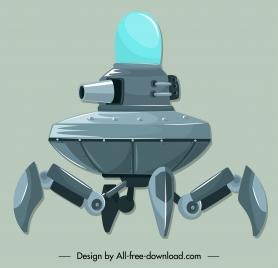 spacecraft icon modern equipped weapon design