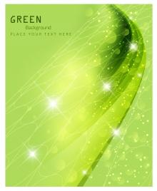 sparkle bokeh green background vector