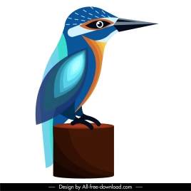 sparrow icon colorful flat sketch