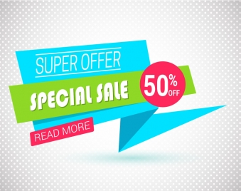 special sale banner vector illustration with 3d background