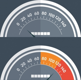 speed concept banner flat speedometer icons