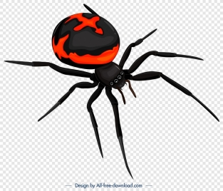 spider insect icon modern 3d sketch