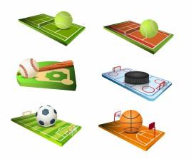 Sport fields icons