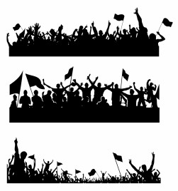 Sport Supporters Silhouettes