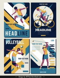 sports banner templates colorful classic design