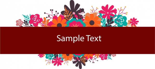 spring flowers background colorful classical ornament text space