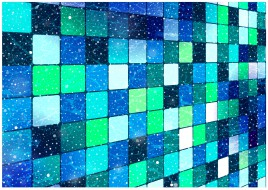 square block abstract background
