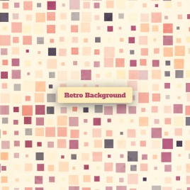 square dot retro background
