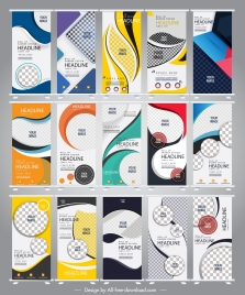 standee banner templates modern vertical colorful abstract decor