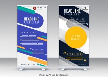 standee banner templates modern vertical scroll design