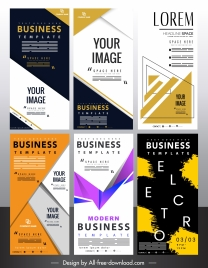 standee poster templates modern colorful decor