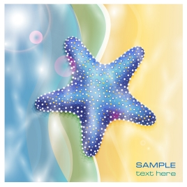 starfish abstract background
