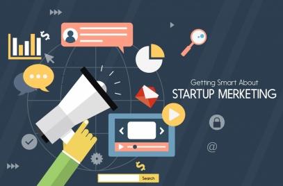 startup marketing banner business design elements decor