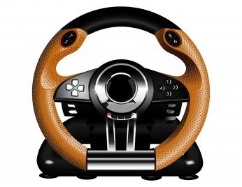 steering wheel video game controller
