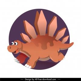 stegosaurus dinosaur icon funny cartoon character sketch