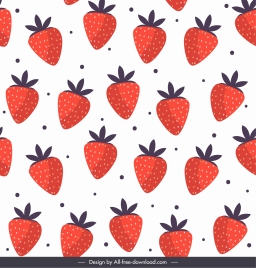 strawberries background bright colored flat repeating decor