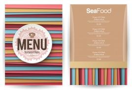 striped lines background restaurant menu