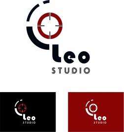 studio logo sets design on various background