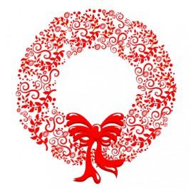 Stylized Christmas Wreath