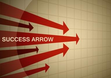success arrow background