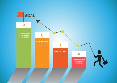 success background colorful vertical chart human icon