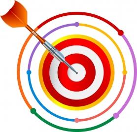 success concept icon arrow target design colorful decoration