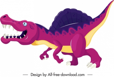 suchominus dinosaur icon colorful sketch cartoon character
